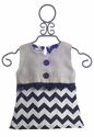 Owls and Bats Girls Chevron Top