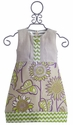 Owls and Bats Girls Dress Palm Linen