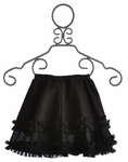 Owls and Bats Girls Skirt in Black