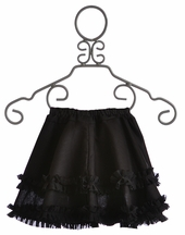 Owls and Bats Girls Skirt in Black (4T, 6, 6X)