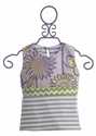 Owls and Bats Girls Summer Top Palm Linen
