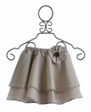 Owls and Bats Linen Skirt for Girls