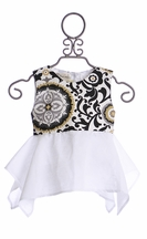 Owls and Bats Medallion Tunic Top (2T,5,6)