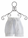 Owls and Bats Shorts in White Linen (3T,4T,5,6X)