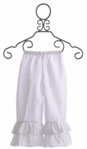 Owls and Bats White Ruffle Pant (Size 6X)