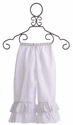 Owls and Bats White Ruffle Pant (3T, 6, 6X, 8)