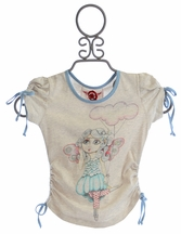 Paper Wings Designer Top for Girls Fairy Flight