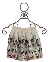 Paper Wings Fancy Skirt for Girls Puppy Border