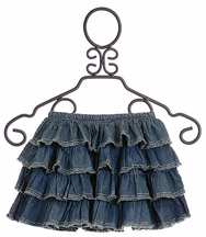 Paper Wings Girls Denim Skirt Ruffled