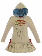 Paper Wings Hooded Butterfly Dress for Girls (6 & 7)