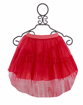 Paper Wings Hot Pink Hi Low Tulle Skirt