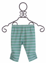 Paper Wings Infant Girls Leggings in Blue Stripes (12Mos,18Mos,24Mos)