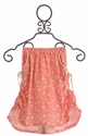 Paper Wings Maxi Skirt for Girls in Pink Hearts