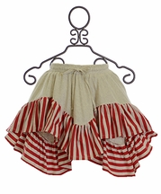 Paper Wings Red and White Hanky Skirt (4 & 7)
