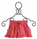 Paper Wings Ruffle Pink Shorts for Girls