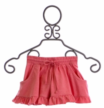 Paper Wings Ruffle Pink Shorts for Girls (4 & 6)