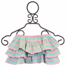 Paper Wings Skirt Pink and Green Stripe