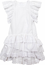 Paper Wings White Dress with Eyelet