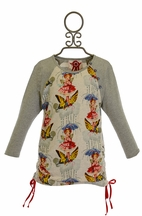 Paper Wings Winter Fairy Shirt Dress in Gray