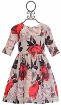 Patachou Designer Dress for Girls with Flowers