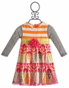 Peaches 'N Cream Little Girls Party Dress Fall Medley