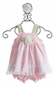 Peaches 'N Cream Pink Infant Dress with Headband - 24 Mos