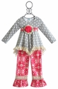 Peaches 'N Cream Polka Dot Little Girls Tunic and Pant Set