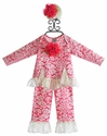 Peaches 'N Cream Raspberry Lace Infant Swing Set and Headband