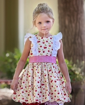 Persnickety a Bushel and a Peck Girls Hopscotch Dress PREORDER