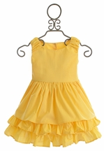 Persnickety Adeline Dress for Girls Daffodils and Dandelions (12Mos,18Mos,2,3)