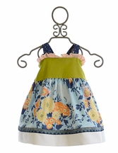 Persnickety Alpine Daisy Betsy Halter Top for Girls (12Mos,18Mos,4,5)