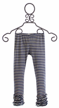Persnickety Alpine Daisy Gracie Leggings for Girls with Navy Stripes (Size 12Mos)