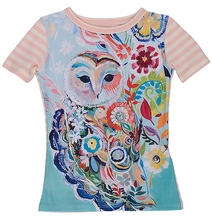 Persnickety Aspyn Owl Top in Pink