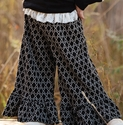 Persnickety Autumn Splendor Bell Pant in Black