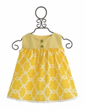 Persnickety Avery Top for Little Girls in Yellow (12Mos,4,5,6)