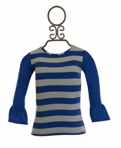 Persnickety Baby Blue Stripe Haven Tee