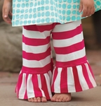 Persnickety Baby Girls Belle Pant with Pink Stripes