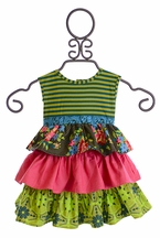 Persnickety Baby Girls Dress in Paisley Forget Me Not (Size 3-6 Mos)