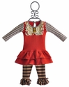 Persnickety Baby Lou Lou Dress with Ruffle Legging