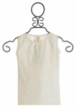 Persnickety Basic Tank in White Josie Forget Me Not