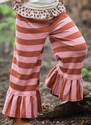Persnickety Bell Pant in Pink Stripe (2, 3, 4)