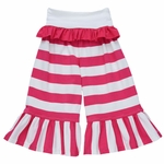 Persnickety Belle Pant for Girls with Pink Stripes