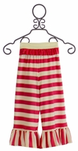 Persnickety Belle Pant for Girls with Pink Stripes (12Mos & 3)