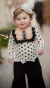 Persnickety Black Dot Lou Lou Top