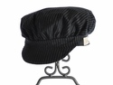 Persnickety Black Newsboy Cap for Girls (MD 4-6X)