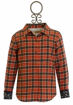 Persnickety Blair Top Red Plaid