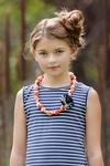 Persnickety Blossom Necklace in Orange Alpine Daisy