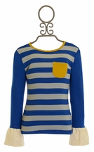 Persnickety Blue Stripe Tee (2 & 3)