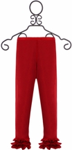 Persnickety Boutique Leggings for Girls in Red