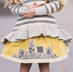 Persnickety Brooke Girls Skirt (12 Mos & 18 Mos)